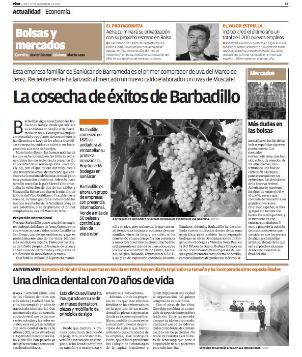 Noticia de Garcelán Clinic en Viva Sevilla